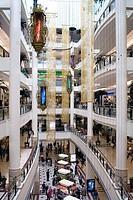 People in shopping mall, Petronas Towers, Kuala Lumpur, Malaysia