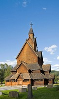 Exterior, Heddal Stave Church (Heddal Stavkirke), thirteenth-century stave church in Norway, Scandinavia, Europe