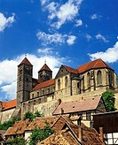 Schlossberg Castle and St. Servatius Church, Quedlinburg, Harz Mountains, Saxony-Anhalt, Germany, Europe
