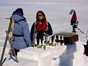 Champagne bar, Ross Ice Shelf, Antarctica