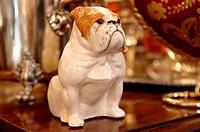 Bulldog porcelain figurine