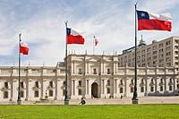 Neoclassical governmental palace La Moneda, Santiago de Chile, Chile, South America