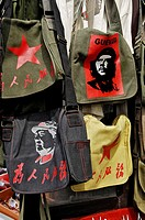 Mao and Che bags, in the old part of Shanghai, China, Asia