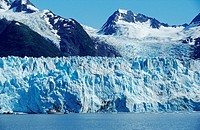 Meares Glacier flowing into the sea, Prince William Sound, Alaska, USA