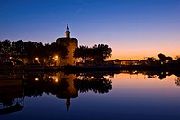 Constantin tower, Rempards of Aigues Mortes, Languedoc_Rousillion, France