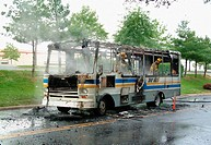 Bus Fire in Greenbelt, Maryland