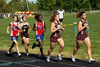 girl high school track meet in Chesepeake, Md