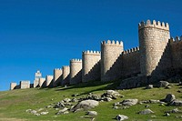 North city walls, Avila. Castilla-Leon, Spain