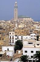 assan ll mosque, medina, casablanca, morocco, africa