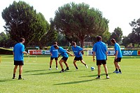 inter football training