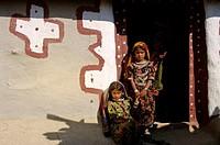 bhuj, village bechrajai, rabari, gujarat, india, asia