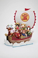 Seven Lucky Gods in Treasure Ship
