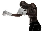 A man boxing