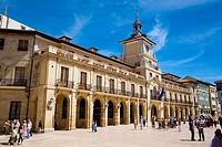 Town hall. Constitución square. Oviedo. Asturias. Spain