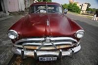 Vintage car in Colonia, Uruguay