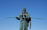 Anaterve, prince of the Guanchen, Plaza de la Patrona de Canarias, Candelaria, Tenerife, Canary Islands, Spain