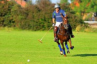 Polo player, Polo tournament, Berenberg High Goal Trophy 2007, Thann, Holzkirchen, Upper Bavaria, Bavaria, Germany