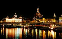 Dresden by Night, Germany, Dresden, Sachsen
