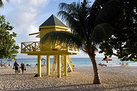 Watch tower at Accra Beach, Rockley, Barbados, Caribbean