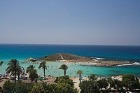 View of Nissi Beach, Agia Napa, South Cyprus, Cyprus