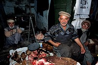 Butchery, bazar, Gilgit, Karakorum Highway, Northern Territories, Pakistan, Asia
