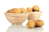 Bowls with potatoes