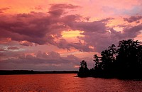 Sunset at Lake of the Woods, Ontario, Canada