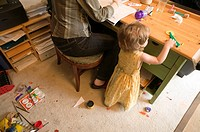 Home office and kids mess