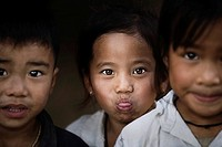 Luang Prabang, Laos, Portrait of young boys