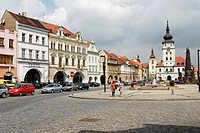 Historic old town of Zatec, North Bohemia, Czech Republic