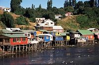 Palafitos, Castro, Chiloe Island, Chile, South America