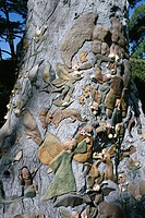 Fairies Tree carving by Ola Cohn, 1931_4, Fitzroy Garden, Melbourne, Victoria, Australia, Pacific