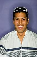 Hispanic man laughing