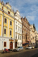 Historic old town of Pilsen, Plzen, west Bohemia, Czech Republic