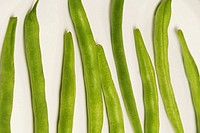 Close_up of runner beans