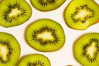 Slices of a kiwi fruit