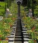 Italienische Treppe (Italian stairs) of Island of Mainau, Baden-Wuerttemberg, Germany