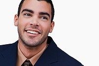 Close_up of a businessman smiling