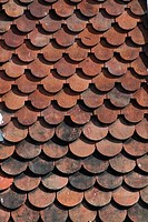 Backgrounds _ red shingles roof tiles