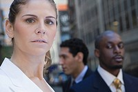 Close_up of a businesswoman looking serious