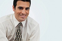 Portrait of a businessman smiling (thumbnail)