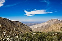 High angle view of mountains, Real De Catorce, San Luis Potosi, Mexico