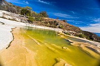 Thermal pool on a hill, Hierve El Agua, Oaxaca State, Mexico