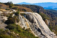 High angle view of a waterfall, Hierve El Agua, Oaxaca State, Mexico