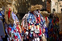 Dancers in costumes, Oaxaca, Oaxaca State, Mexico
