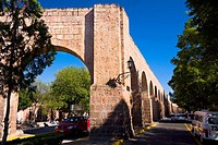 Ruins of an aqueduct at the roadside, Morelia, Michoacan State, Mexico