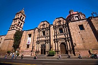 Low angle view of a church, Templo De Las Monjas, Morelia, Michoacan State, Mexico