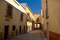 Empty alley in a city, Callejon De Veyna, Zacatecas, Zacatecas State, Mexico