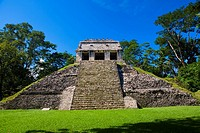 Old ruins of a temple, Temple Of The Count, Palenque, Chiapas, Mexico (thumbnail)