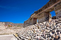 Old ruins of a building, Mitla, Oaxaca State, Mexico
